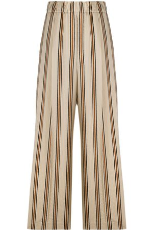 JEJIA Striped print palazzo trousers - Neutrals