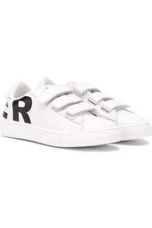 Moncler Logo print low top sneakers