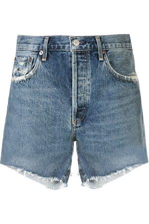 AGOLDE Women Shorts - Mid rise denim shorts