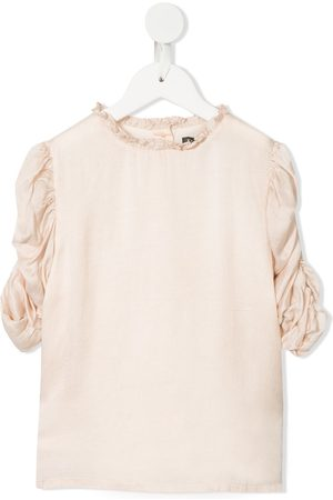 Velveteen Girls Blouses - Dionne rouched sleeves blouse