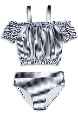 HABITUAL Girls' Skye Off-the-Shoulder Two-Piece Swimsuit - Little Kid