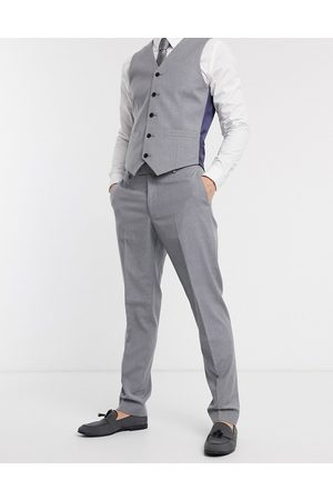 ASOS Slim suit pants in mid gray-Navy