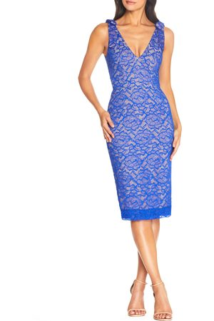 Dress The Population Women's Mary Lace Body-Con Cocktail Dress