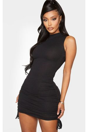 PRETTYLITTLETHING Shape Thick Rib Ruched Side Sleeveless Bodycon Dress
