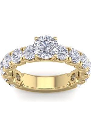 SuperJeweler 3 1/2 Carat Round Shape Diamond Engagement Ring in 14K (5.20 g) (