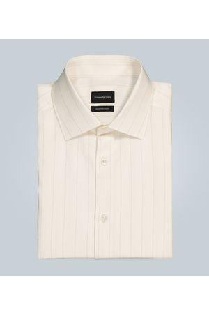 Ermenegildo Zegna Cotton, linen and silk-blend shirt