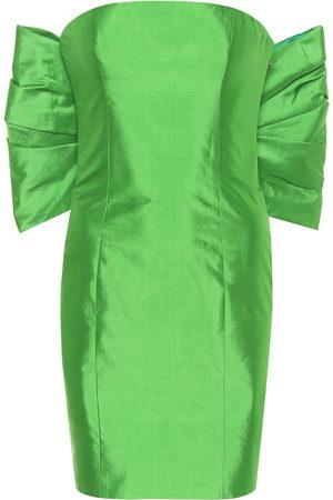 RASARIO Exclusive to Mytheresa – Silk-satin strapless midi dress