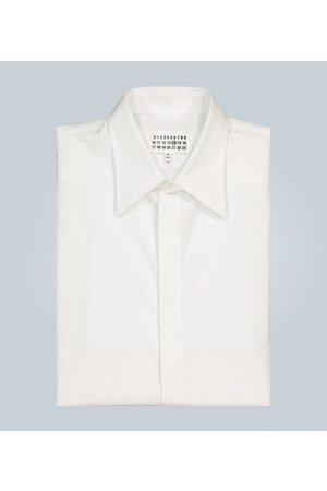 Maison Margiela Concealed button cotton shirt
