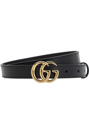 Gucci 20mm Gg Marmont Shiny Leather Belt