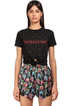 Paco rabanne Printed Cotton T-shirt W/knot