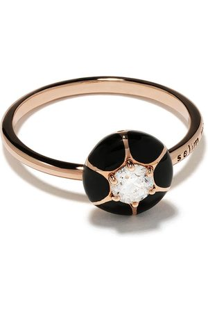 Selim Mouzannar 18kt rose diamond Petal ring