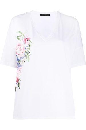 Mr & Mrs Italy Women T-shirts - Floral v-neck T-shirt