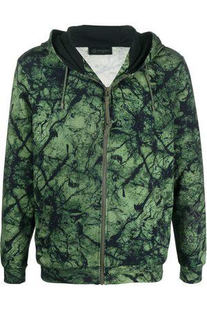Mr & Mrs Italy Men Hoodies - Abstract print zipped hoodie