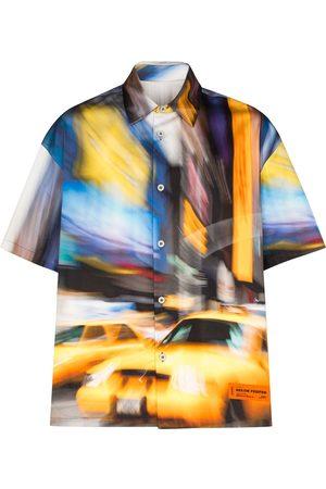 Heron Preston Men Shirts - Graphic taxi print shirt