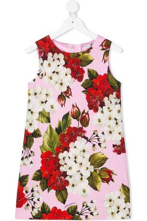 Dolce & Gabbana Girls Printed Dresses - Floral sleeveless shift dress