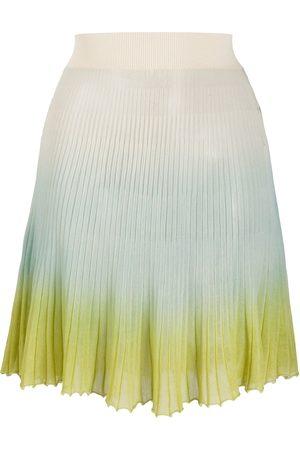 Jacquemus Women Pleated Skirts - Helado gradient knitted skirt