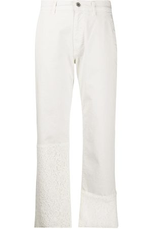 Mr & Mrs Italy Logo straight leg trousers
