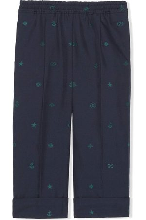 Gucci Symbols jacquard straight-leg trousers