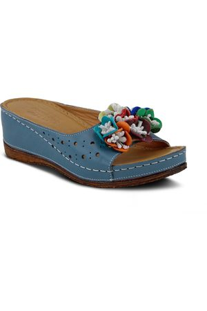 Spring Step Girls Sandals - Women's Flower Child Slide Wedge Sandal