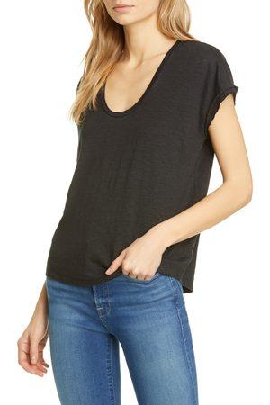 Frame Women's Easy Scoop Neck Organic Linen T-Shirt