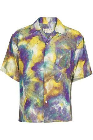 Marni Men Short sleeves - Tie and dye shirt