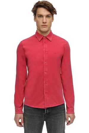Balenciaga Washed Cotton Fitted Stretch Shirt