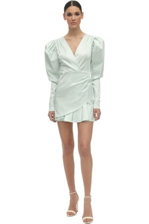 ROTATE Aiken Satin Mini Dress