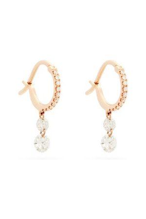 Raphaele Canot Women Earrings - Set Free Diamond & 18kt Rose Hoop Earrings - Womens - Rose