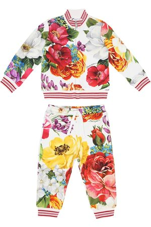 Dolce & Gabbana Baby floral cotton tracksuit