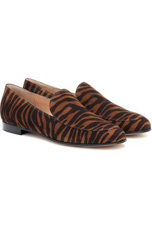 Gianvito Rossi Marcel zebra-print suede loafers