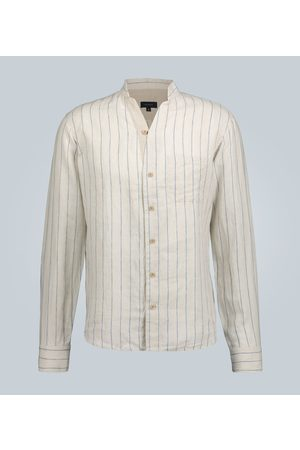 Sease Mandarin-collar linen shirt