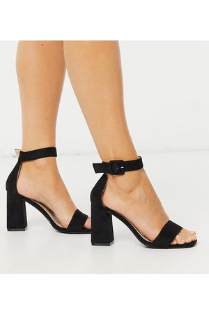 Raid Wide Fit Dakota square toe block heeled sandals in