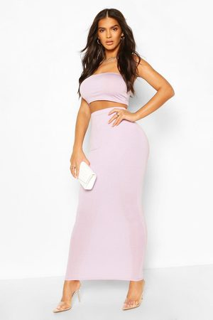Boohoo Womens Basic Bodycon Maxi Skirt - - 4