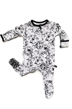Peregrine Kidswear Infant Girl's Floral Fitted One-Piece Pajamas