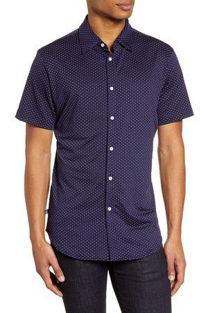 Mizzen+Main Men's Spinnaker Trim Fit Short Sleeve Button-Up Performance Shirt