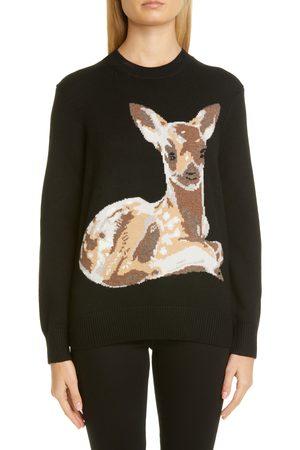 Burberry Women's Courtney Deer Intarsia Wool Sweater
