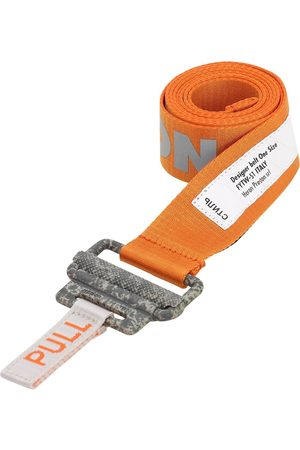 Heron Preston 40mm Reflective Logo Tech Webbing Belt