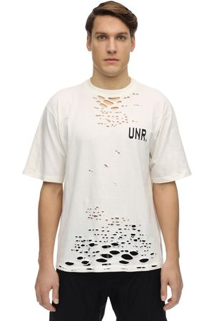 UNRAVEL Oversize Destroyed Jersey T-shirt