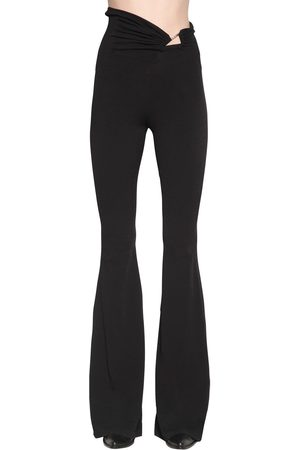 UNRAVEL Stretch Jersey Flared Pants