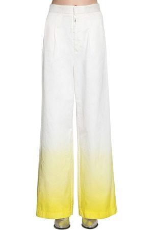 UNRAVEL Degradé Cotton Denim Wide Leg Jeans