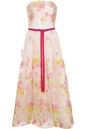 Marchesa Notte Women Printed Dresses - Floral flared gown