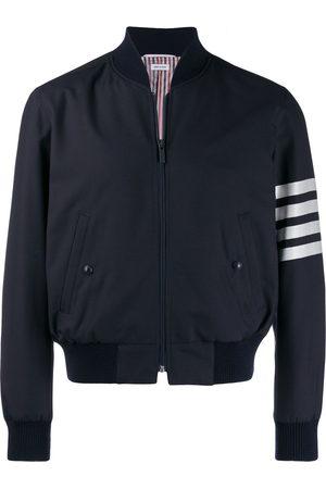 Thom Browne 4-Bar plain weave suiting bomber jacket
