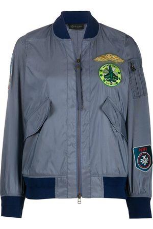 Mr & Mrs Italy Women Bomber Jackets - Patch-embellished bomber jacket - Grey