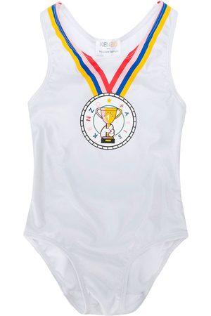 Kenzo Medal print swimsuit