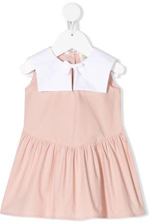 DOUUOD KIDS Color-block tiered dress