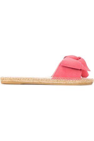 MANEBI Women Sandals - Knotted suede sliders