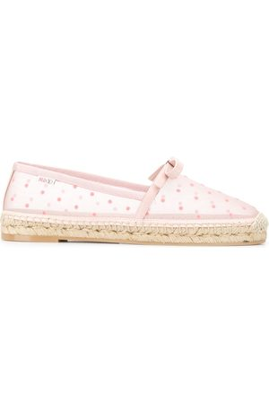 RED(V) Point d'Esprit sheer espadrilles
