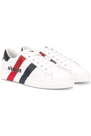 Moncler TEEN striped print low top sneakers