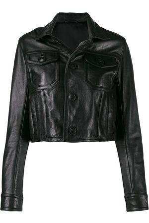 Ami Patch pockets leather jacket