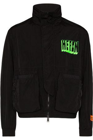 Heron Preston Men Bomber Jackets - Logo print jacket